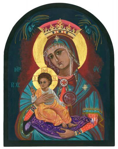 Mary Icon by Connie Wendleton At Blue Morning Gallery