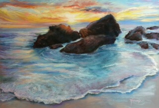 Painting of Seascape by Elaine Woodward