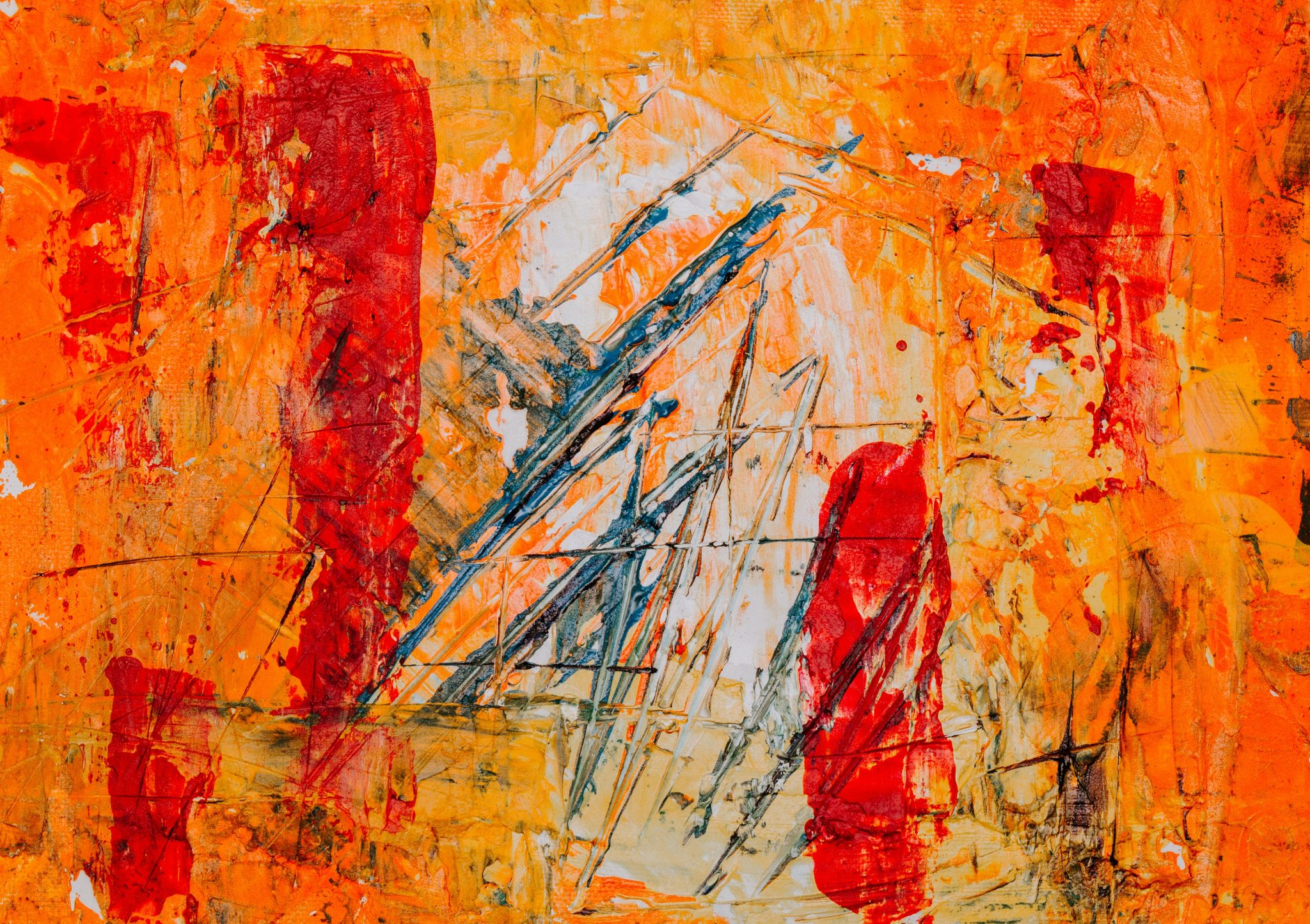 Abstract painting and more at Blue Morning Gallery