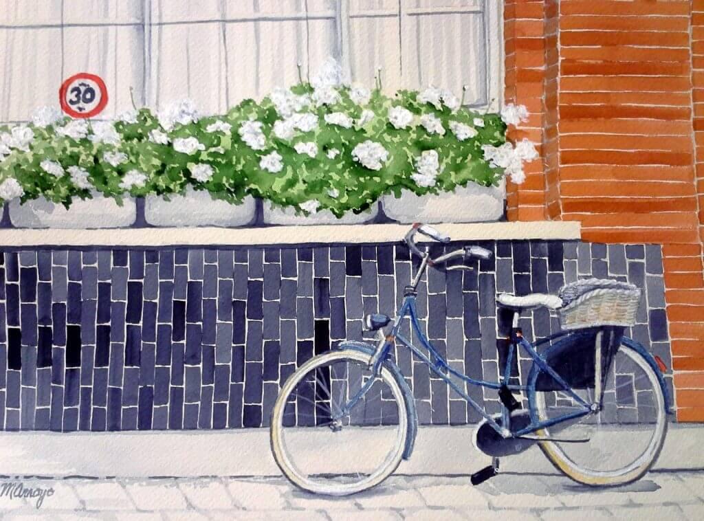 Brugge Bicycle by Marianne Arroyo