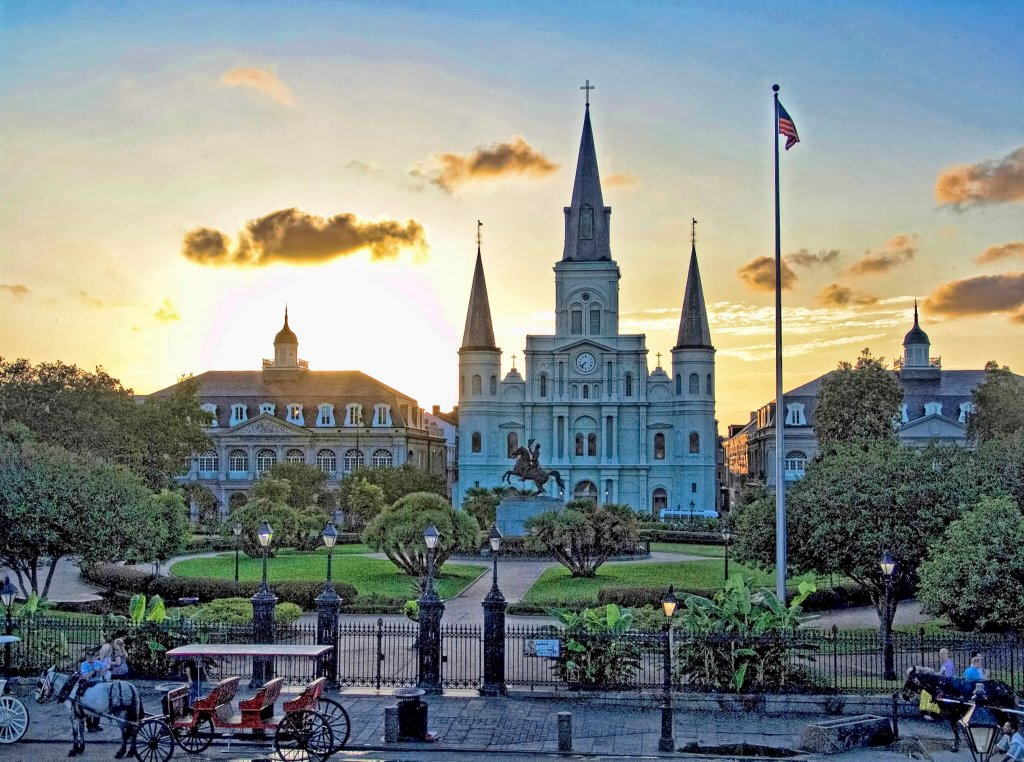 Jackson Square by Jim Sweida at Blue Morning Gallery