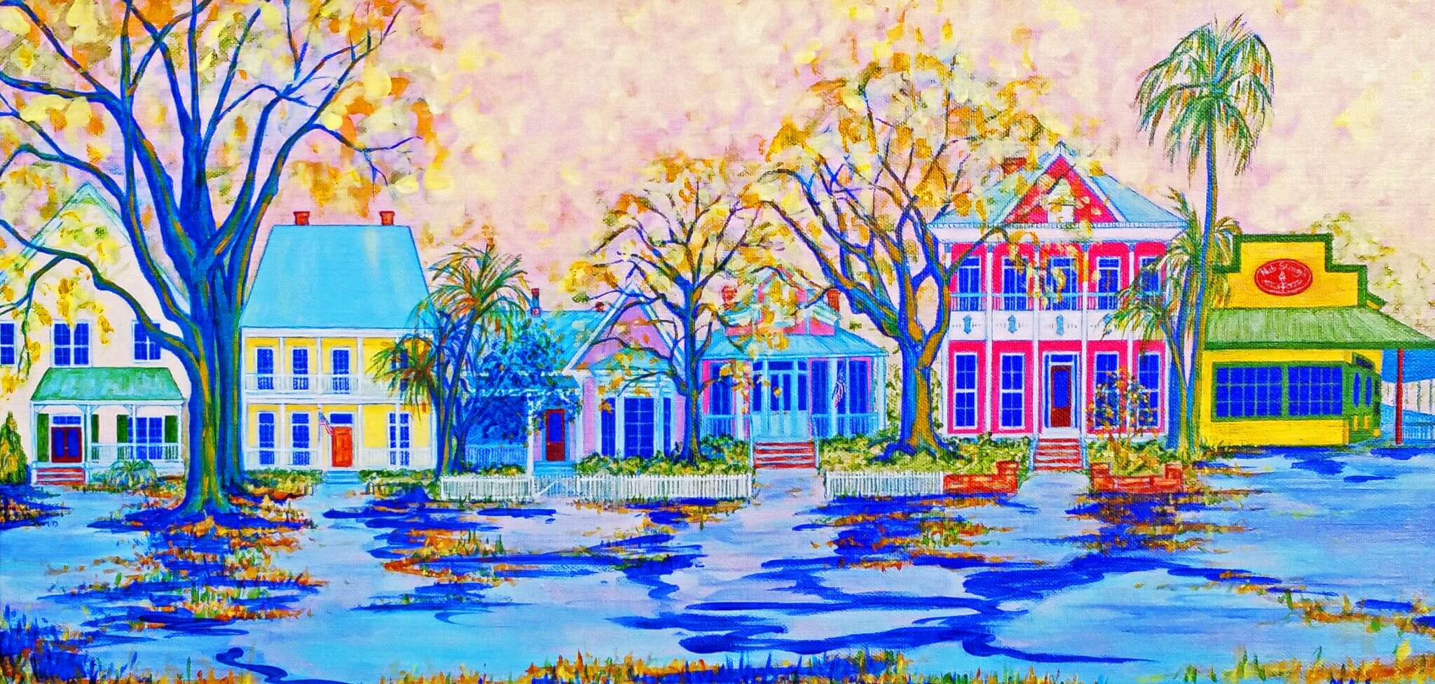 Historic Pensacola painting by Mary Anne Sweida at Blue Morning Gallery