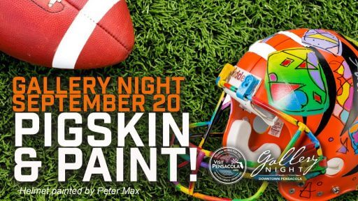 Pigskin and Paint Gallery Night Pensacola September 2019